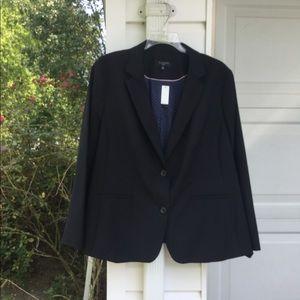NWT Talbots Gorgeous Black Lined Wool Blazer